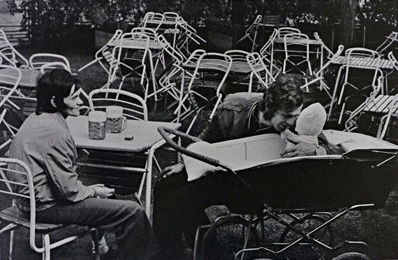 Viktor Kolář. Young family with glass of bier, 1974