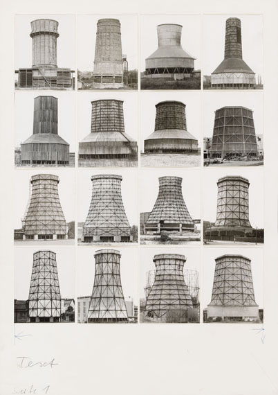 Bernd and Hilla Becher, Kühltürme, 1963-196916 ferrotyped gelatin silver prints on Agfa paper, printed probably around 1971. Each approx. 10 x 8 cm.Estimate € 10,000 - 15,000Lot 753 / Auction 1071 Contemporary Art