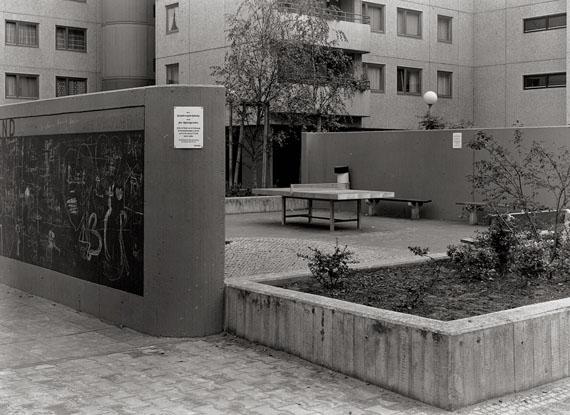 """Lot 4307 Michael Schmidt. """"Berlin 65, Lortzingstr. (Hof)"""". 1977. Vintage gelatin silver print"""