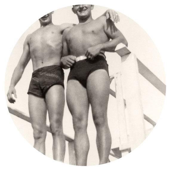 "Bathing Suits, 2015. Archival inkjet print. 6"" image on 10"" paper© Kris Sanford, courtesy elizabeth houston gallery"
