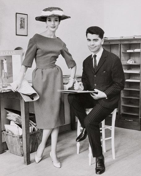 Regina Relang: Karl Lagerfeld bei Jean Patou, 1959© Münchner Stadtmuseum Sammlung Fotografie Archiv Relang