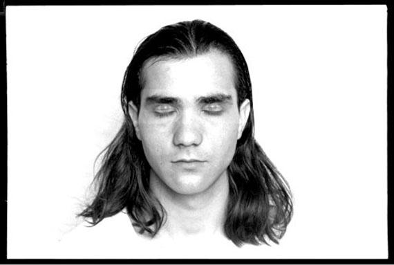 János Vető, Self Portrait: Eyes Open, Eyes Closed, 1976. Fiber print. Courtesy of Alma and the artist.