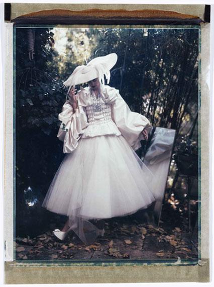 "Cathleen Naundorf ""L'oiseau de paradis"" – Haute Couture Christian Dior, 2007Original Color Polaroid10 x 8 in.Unique"
