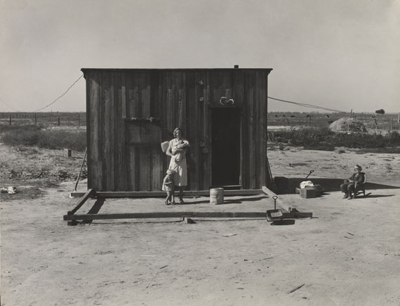 Dorothea Lange: Home of rural rehabilitation client, Tulare County, California. November 1938.
