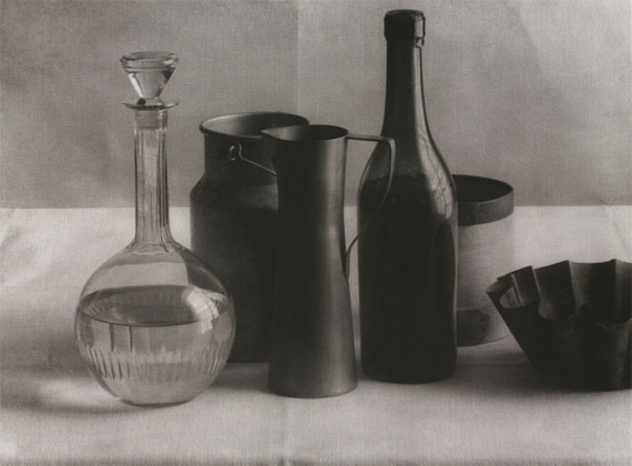 John Stewart: Morandi, Paris, 1974, Charcoal Print