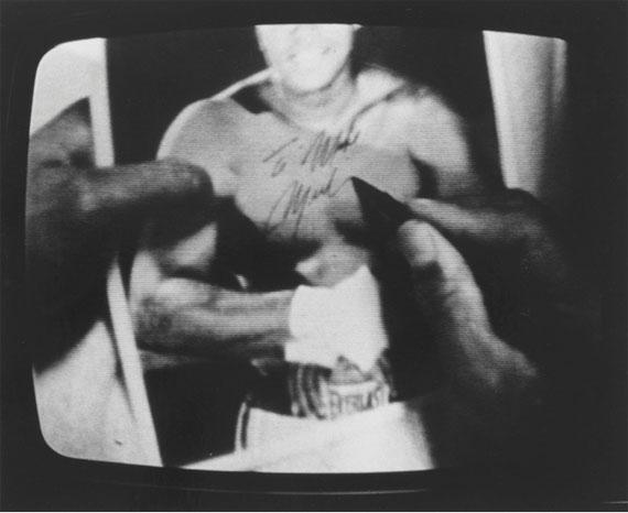 Timm Rautert: Muhammad Ali, 1973 SW-Fotografie, Bromsilbergelatine, auf KartonKupferstich-Kabinett, Staatliche Kunstsammlungen Dresden© Timm Rautert/SKD, Foto: Herbert Boswank