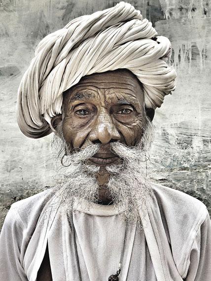 Mario Marino: Portrait eines Farmers, Indien, 2013