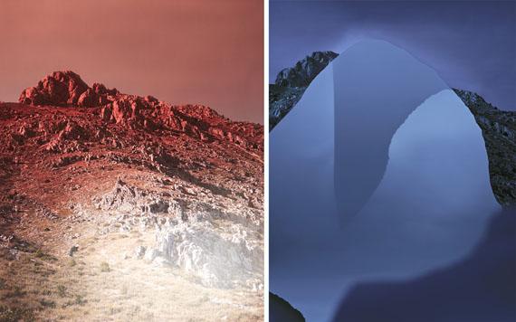 Douglas MandryLeft: Unseen Sights, Mountain Pass I, Sagalassos, 2015   Archival Pigment Print   90 x 110 cm   Edition 5 & 1APRight: Unseen Sights, Relief, Kapadokya, 2015   Archival Pigment Print   115 x 150 cm   Edition 3 & 1AP