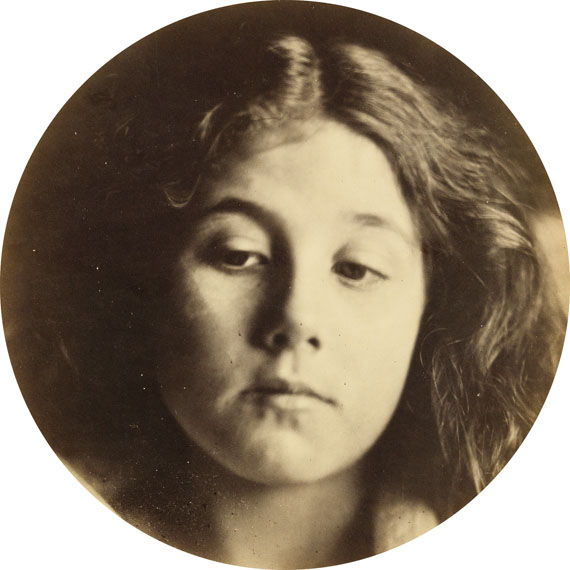 Lot 38Julia Margaret Cameron, Portrait of Kate Keownalbumen print, 1866. Estimate $50,000 to $75,000.
