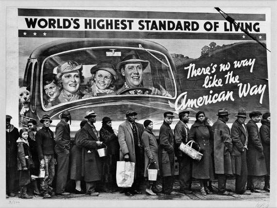 Lot 106Margaret Bourke-White, At the Time of the Louisville Flood, Kentucky, silver print, 1936. Estimate $40,000 to $60,000.