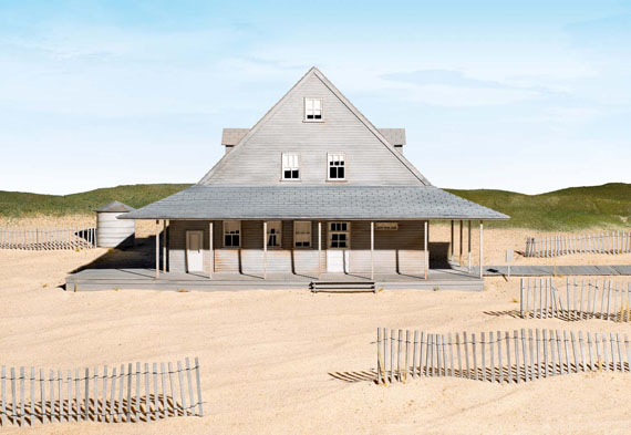 James Casebere, Caffey's Inlet Lifesaving Station (Dare County, NC), 2014