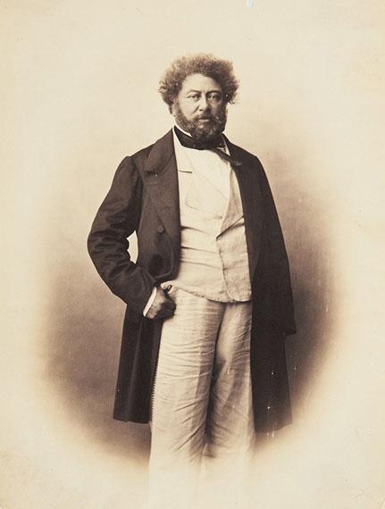 Full-lenght portrait of Alexandre Dumas, 1859Albumen print30 x 20,4 cm