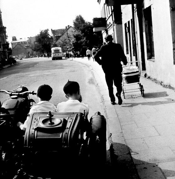 2 Boys in the carriage of the bike -  Kalvarijis Street. Brothers. 1968 © Antanas SutkusSpecial Edition of 100