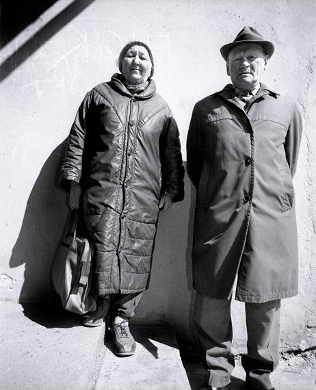 Antanas Sutkus. Raja Bastunskiene, born 1920. Abraomas Bastunskis, born 1919, from the series In Memoriam, 1988-1997