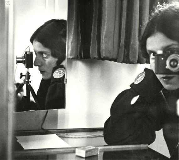 Ilse Bing, Self-Portrait with Leica, Paris, 1931Gelatin silver print 11 x 14 inchesCourtesy Edwynn Houk Gallery, New York & Zürich