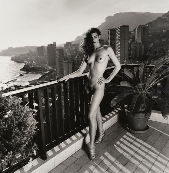 Lot 7Helmut NEWTON (1920-2004)On my terrace, Monte Carlo(Dressed/Naked) - 1990