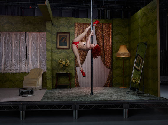 Sasha Flexy, Pole Dancer, 2016from the series The ACTC-Type Print: 40 x 30 inch edition of 1054 x 40 inch edition of 7© Julia Fullerton-Batten
