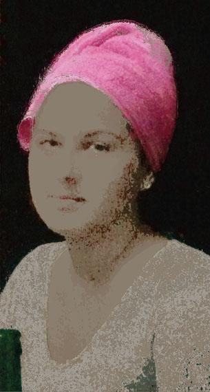 """Das rosa Handtuch"", 40 cm x 21,43 cm, Fineart Inkjetprint, Edition 3 / 3 + 1 AP © Ophelia Beckmann"