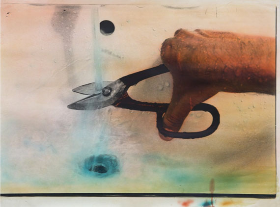 FABRIZIO PLESSI100 Pezzi D'Acqua (100 Pieces of Water), 1973Hand-coloured photograph27 3/5 × 39 2/5 in, 70 × 100 cmUnique © Fabrizio PlessiCourtesy Beck & Eggeling, Düsseldorf