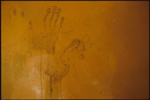 "Marissa Roth: ""Monk handprints left on a wall at Jokhang Monastery, in Lhasa"" 2007 © Marissa Roth"