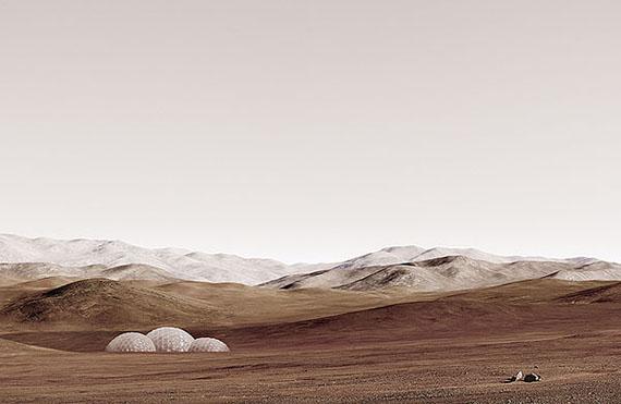 "Michael Najjar: ""sands of mars"", 2014hybrid photography, archival pigment print, diasec, custom-made aluminium frame© Michael Najjar, Courtesy the artist/Sammlung Wemhöner"