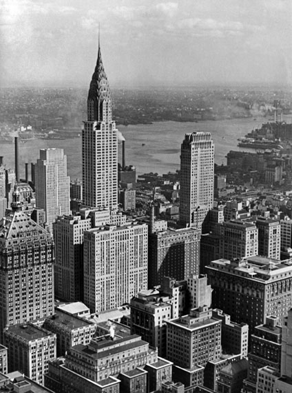 Fritz BlockView from the Empire State Building Looking onto the Chrysler Building, New York City, 1931Silbergelatine, 23,4 × 17,5 cm© Fritz Block Estate Archive, Stockholm/Hamburg