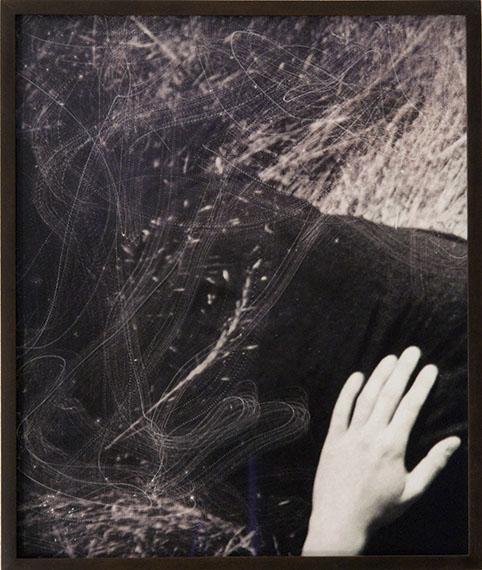 Tense (No. 4), 2011, Sanded Prints, unique piece, 34.8 x 29 cm, © Elmar Vestner