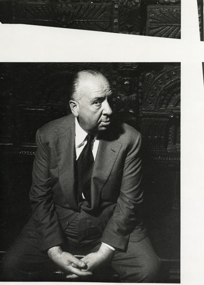 Norman Parkinson, CBE (1913-1990): Alfred HitchcockFor VOGUE 1956, London May 195640 x 30 cm (153⁄4 by 113⁄4 inches)Unique vintage silver print, verso with annotationsCourtesy of Pierre Spake