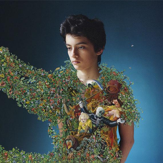 Elene UsdinDante d'après Otto Dix 2016, 64 x 64 cmArchival pigment print with acrylic painting, framedUnique piece© Elene Usdin, courtesy Galerie Esther Woerdehoff