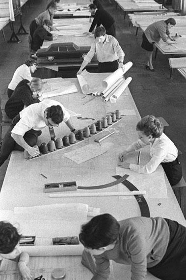Vladimir Lagrange. Curve, eraser, pencil. New model of Volga car. Gorky Automobile Plant. Design department. 1969