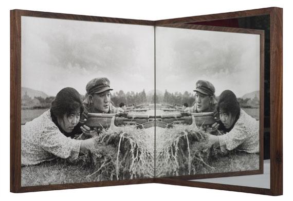Cai Dongdong: Shooting Practice, 2016, Silver Gelatin Print, Mirror, 100 x 100 x 100 cm © Cai Dongdong