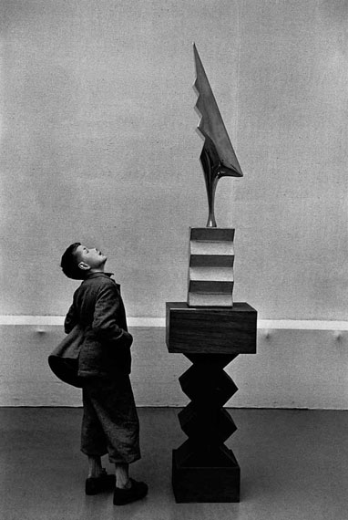 René Burri: Sculpture by Brancusi, Kunsthaus Zurich, 1955Signed Silver Gelatine Print, 40 x 50 cm© René Burri/Magnum Photos