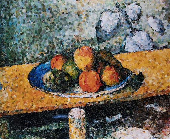 Vik Muniz, Apples, Peaches, Pears and Grapes, After Cezanne, 2003Courtesy Edwynn Houk Gallery New York