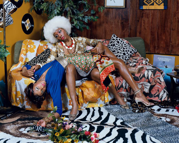 "Mickalene Thomas, ""La leçon d'amour,"" 2008. © Mickalene Thomas; courtesy the artist, Lehmann Maupin, New York and Hong Kong and Artists Rights Society (ARS), New York"