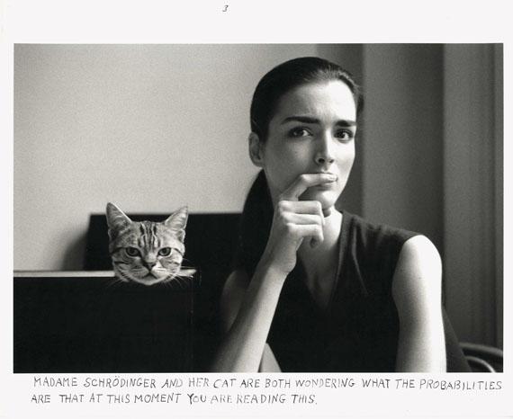Duane Michals: Madame Schrödinger's Cat, 1998br>© Duane Michals, Courtesy Galerie Clara Maria Sels, 2017