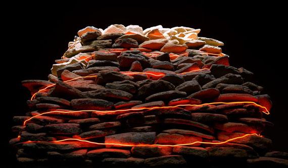 Vivan Sundaram - Burntmound [sideview] (from the series 'Terraoptics')