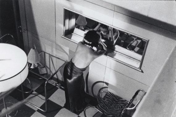 Hiroshi Hamaya, Dancer looking herself in a mirror, Ball Room Florida, Akasaka, Tokyo, 1935, © Hiroshi Hamaya