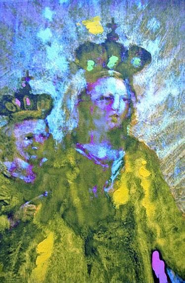 Annelies ŠtrbaMadonna 3987, 2017Pigment print on canvas overworked with oil colour, 30 x 20 cm© Annelies Štrba