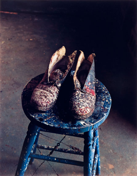 Lee Krasner's  Shoes, Pollock Studio, Long Island, 1988, Dye Transfer, 43 x 33 cm