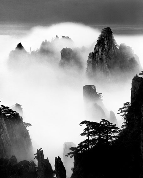 Wang Wusheng, Disciples of Buddha and Fairy Maiden Peak, taken at Peak Lying on the Clouds June 2004, 8 A.M.