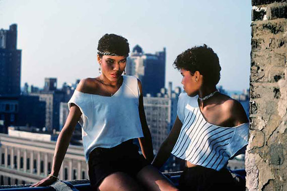Lopez Sisters on the Roof, New York, 1981 | Archival Pigment Print | 42 x 67 cm | Edition 2 of 5 & 2AP © Willy Spiller