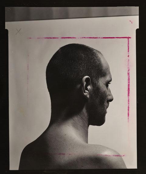 Balthasar Burkhard: study on Der Kopf (Head), ca. 1983 © Estate Balthasar Burkhard
