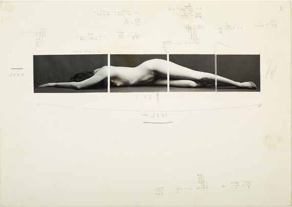Balthasar Burkhard: sketch for Körper II (Body II), ca. 1983 © Estate Balthasar Burkhard