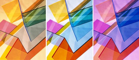 Sammlung Philara: Barbara Kasten: Composition7 D7 E7 T, 2017