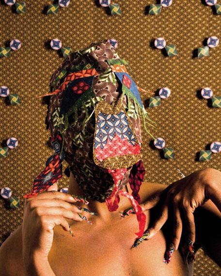 Siwa Mgoboza, Les Etres D'Africadia (Masquer) IV.59.2 x 42 cm. Ed of 5 + 3AP. Courtesy of Semaphore Gallery.