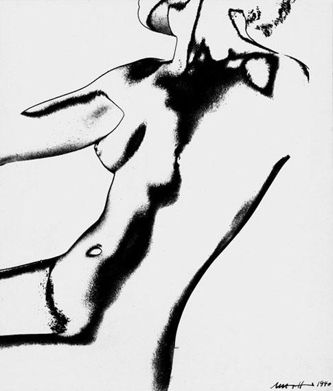 Martha Hoepffner: Torso solarisation, 1940 Vintage, Silbergelatine