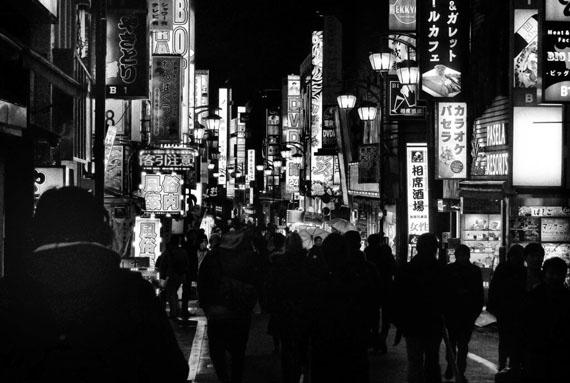 Daido Moriyama, Night Shinjuku, Tokyo, 2018. Courtesy Hamiltons and the artist