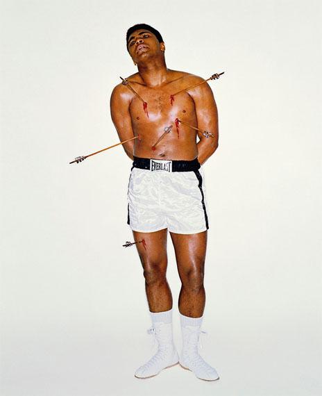 Carl Fischer: Muhammad Ali as San Sebastian, New York, 1967, Baryta Print, 60 x 50 cm