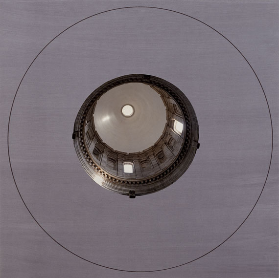 Jan DibbetsUntitled, 1989Aus der Serie: Three CupolasCollage, chromogener Abzug auf PE-Papier, Siebdruck auf Karton98 x 98 cm