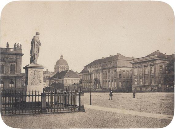 Lot 4002 Leopold AhrendtsUnter den Linden with Kronprinzenpalais, Berlin. Before 1856Albumen print